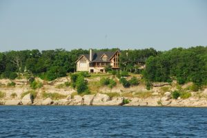 Waterfront home view